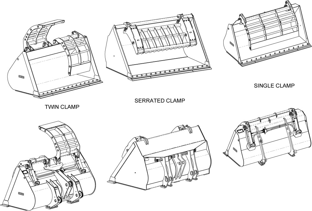 Refuse Clamp Buckets